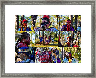 Framed Print featuring the photograph Florida Seminole Indian Warriors Circa 1800s by David Lee Thompson