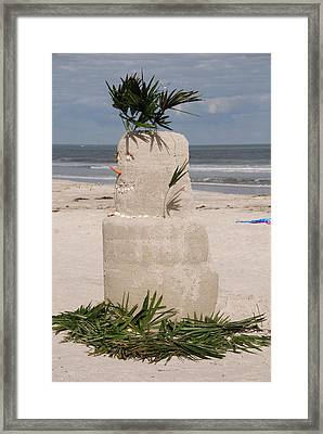 Florida Snow Man Framed Print by Susanne Van Hulst