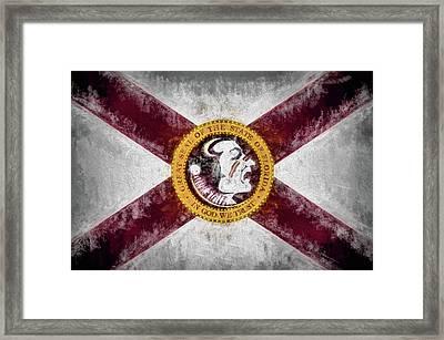 Florida State Flag Framed Print by JC Findley