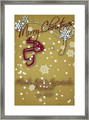 Florida State Seminoles Christmas Card 2 Framed Print by Joe Hamilton