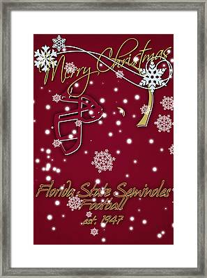 Florida State Seminoles Christmas Card Framed Print