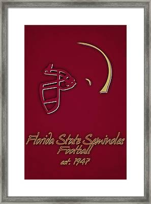 Florida State Seminoles Helmet Framed Print by Joe Hamilton