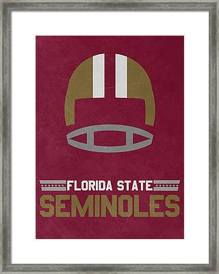 Florida State Seminoles Vintage Football Art Framed Print by Joe Hamilton