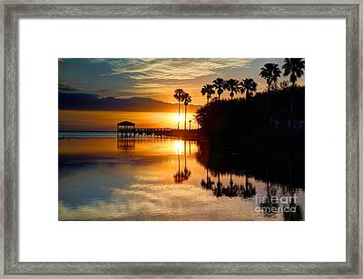 Florida Sunrise Framed Print by Rick Mann