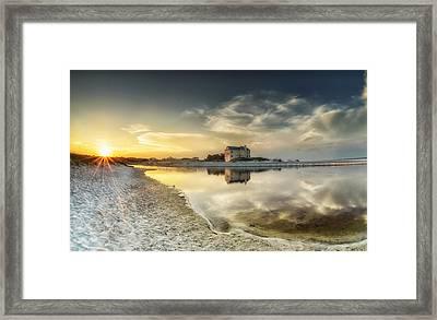 Florida Sunrise - Stillness Framed Print by Cathy Neth