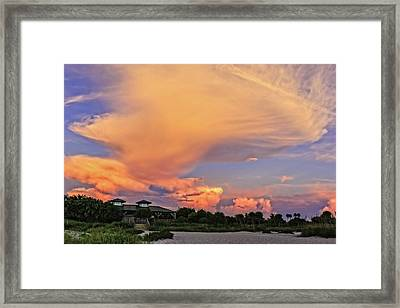 Florida Sunset On The Last Day Of Summer-vs2  -  Lastsumsum994 Framed Print