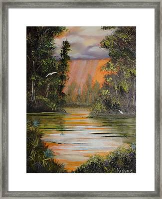 Florida Thunderstorm Framed Print by Susan Kubes