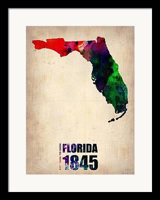 Florida State Framed Prints