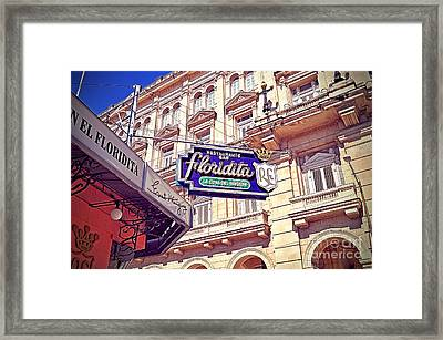 Floridita - Havana Cuba Framed Print by Chris Andruskiewicz