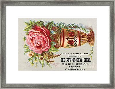 Florist Trade Card, C1890 Framed Print by Granger