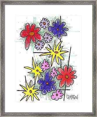 Florists Dozen Framed Print
