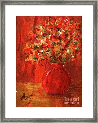 Framed Print featuring the painting Florists Red by P J Lewis