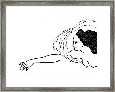 Flosshilde Framed Print by Aubrey Beardsley
