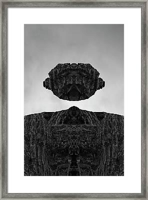 Floating Head I Bw Framed Print by David Gordon