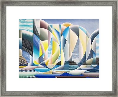 Framed Print featuring the painting Flotilla   by Douglas Pike