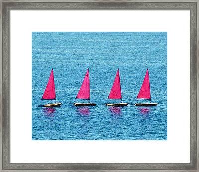 Flotilla Framed Print by John Bradburn