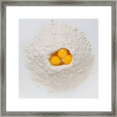 Flour And Eggs Framed Print by Steve Gadomski