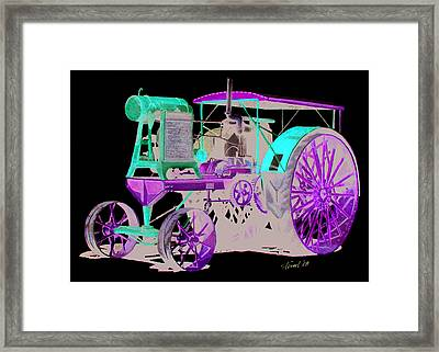Flour City Gas Tractor Framed Print by Ferrel Cordle