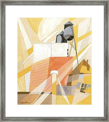 Flour Mill Factory Framed Print by Charles Demuth