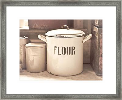 Flour Tin Framed Print by Tom Gowanlock