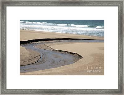 Flow - Scott Creek  Framed Print by Amanda Barcon