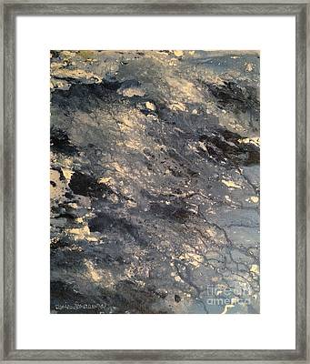 Framed Print featuring the painting Flow by Denise Tomasura