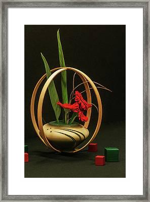 Flow Ikebana Framed Print by Carolyn Dalessandro
