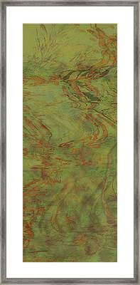 Flow Improvement In The Grass Framed Print
