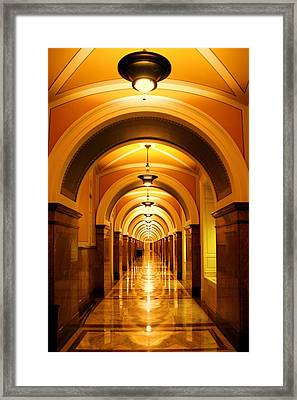 Flow Of Time Framed Print by Mitch Cat