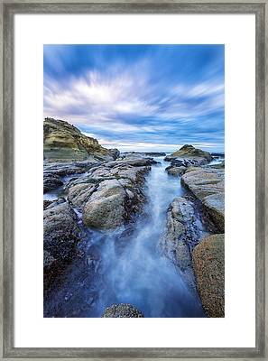 Flow West Framed Print by Robert Bynum