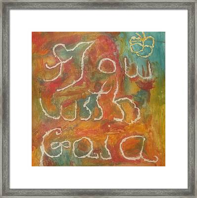 Flow With Gaia Framed Print