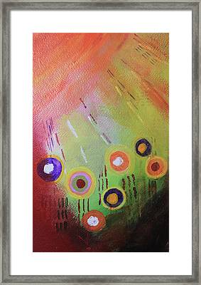 Flower 1 Abstract Framed Print