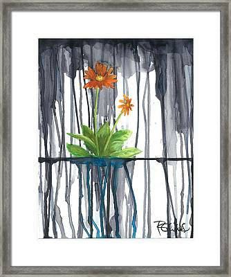 Flower #1 Framed Print by Rebecca Childs