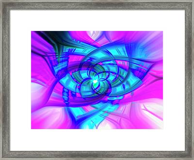 Flower Abstract Framed Print by Penny Lisowski