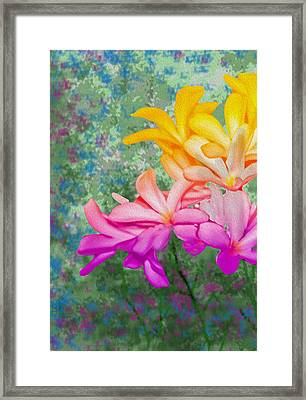 God Made Art In Flowers Framed Print by Manjot Singh Sachdeva