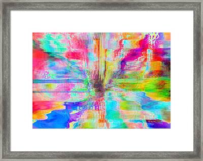 Flower And Pleasure Framed Print by Fania Simon