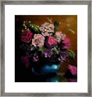 Flower Arrangement Framed Print by Ahmed Darwish
