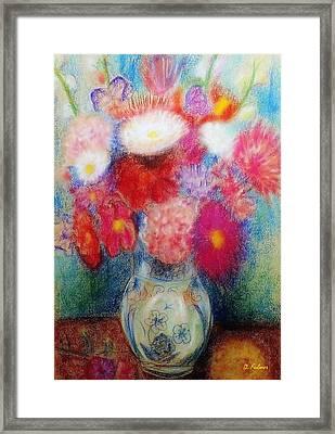 Flower Arrangement Framed Print by Denise Fulmer
