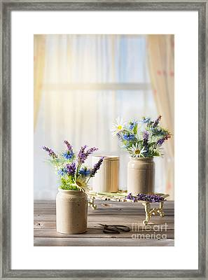 Flower Arrangements Framed Print by Amanda Elwell