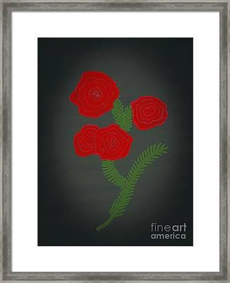 Flower Art Image Framed Print by Rs