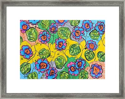 Flower Bed Design Framed Print by Caroline Street