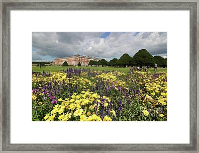 Flower Bed Hampton Court Palace Framed Print