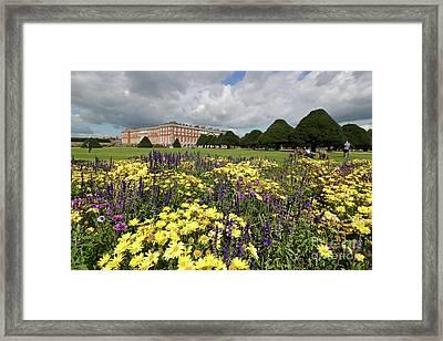 Flower Bed Hampton Court Palace Framed Print