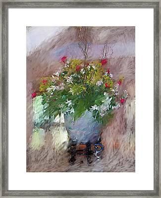 Flower Bowl Framed Print