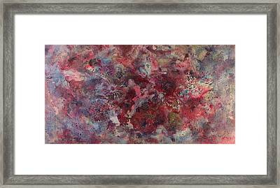 Framed Print featuring the painting Flower Burst by Kim Fournier