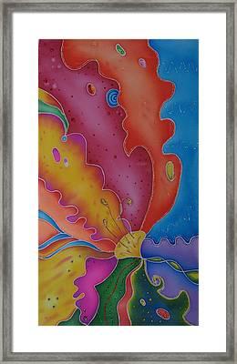 Flower-butterfly   Framed Print by Tatiana  Antsiferova