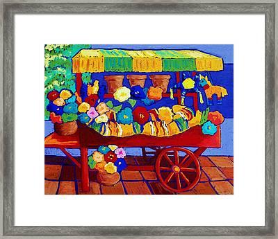 Flower Cart Framed Print by Candy Mayer