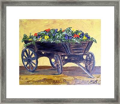 Flower Cart Framed Print by Maria Soto Robbins