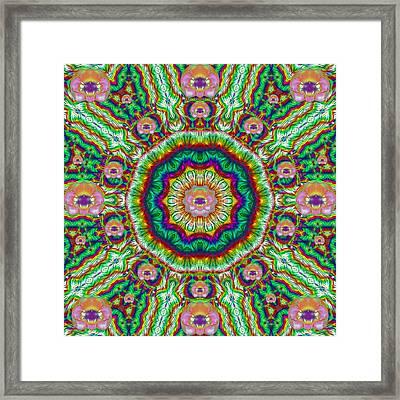 Flower Chakra Of Healing Floral Framed Print
