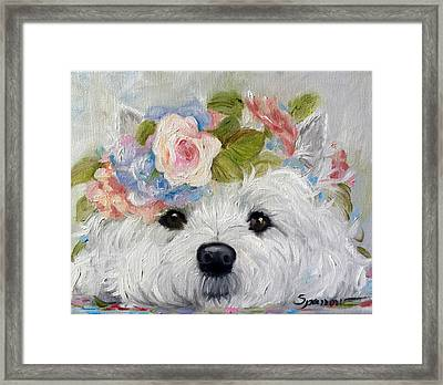 Flower Child Framed Print by Mary Sparrow